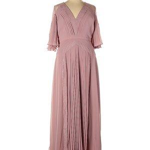 Pink maxi sexy dress